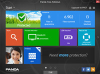 Panda Free Antivirus screenshot medium