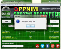 Appnimi SHA256 Decrypter screenshot medium