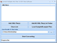 Convert Multiple XML Files To PDF Files Software