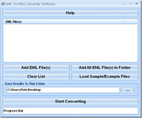 EML To MSG Converter Software