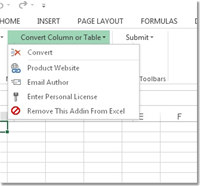 Excel Convert Column To Table and Table To Column Software