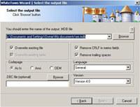 DBF to MDB (Access) Converter