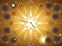 Fractal Sun Clock Live Wallpaper screenshot medium