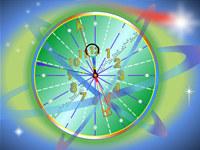 Electron Clock Live Wallpaper