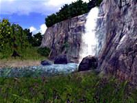 3D Living Waterfall Screensaver