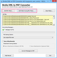 Convert EML Emails to PDF