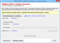 EML to Zimbra screenshot medium
