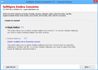 Zimbra to MS Exchange screenshot medium