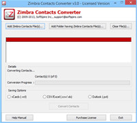 Export Zimbra Contacts to Outlook screenshot medium