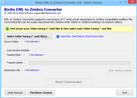 Import EML to Zimbra Desktop screenshot medium