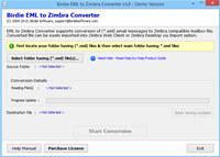 Import EML to Zimbra Desktop screenshot medium