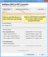 Software4Help MSG to PDF Converter screenshot medium