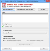 Software4help Zimbra Mail to PDF  screenshot medium