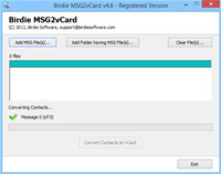 Convert Microsoft Outlook MSG to vCard screenshot medium