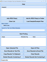 JPG Search Multiple Files By Metadata Software