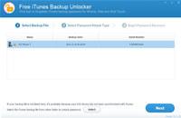 Free iTunes Backup Unlocker screenshot medium