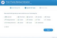 Free iTunes Backup Extractor screenshot medium