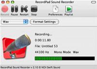 RecordPad Sound Recorder Free for Mac