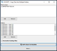 Copy Files Into Multiple Folders screenshot medium