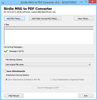 Outlook MSG file format to PDF screenshot medium