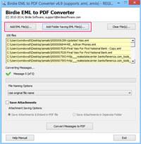 Convert Multiple EML file to PDF  screenshot medium