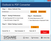 Outlook Data to PDF Conversion Tool